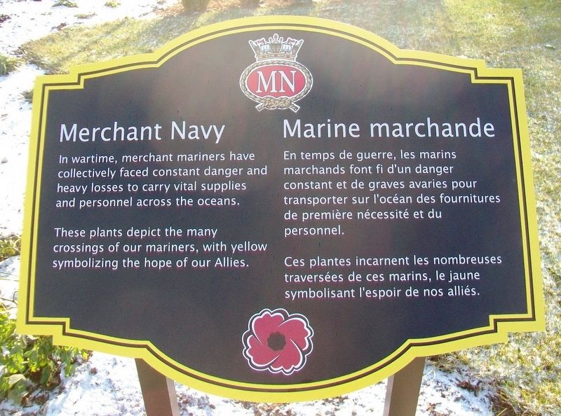 Merchant Navy / Marine marchande Marker image. Click for full size.