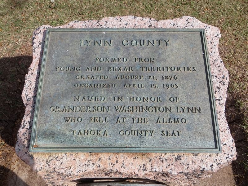 Lynn County Marker image. Click for full size.