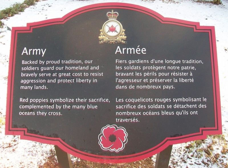 Army / Armée Marker image. Click for full size.
