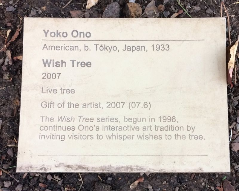 Yoko Ono Marker image. Click for full size.