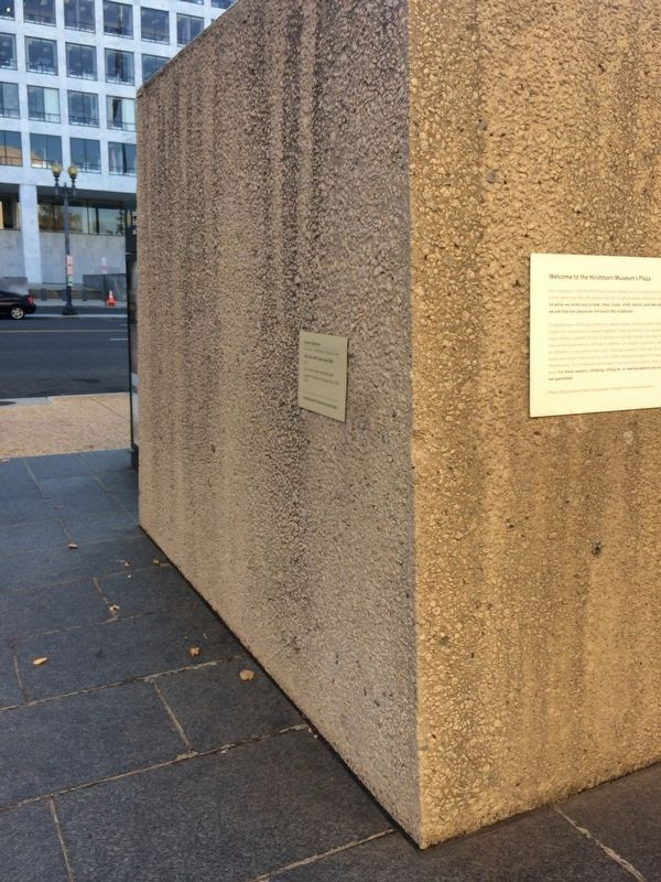 Welcome to the Hirshhorn Museum's Plaza Marker image. Click for full size.