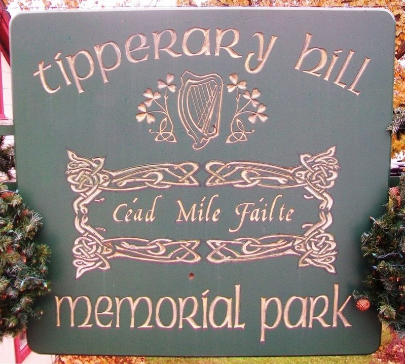 Tipperary Hill Memorial Park Sign image. Click for full size.