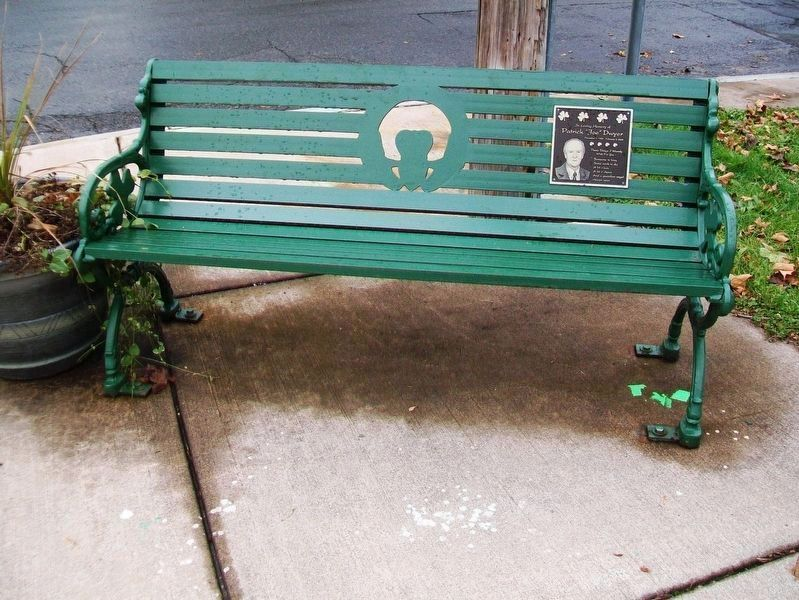 "Patrick ""Joe"" Dwyer Marker and Bench image. Click for full size."