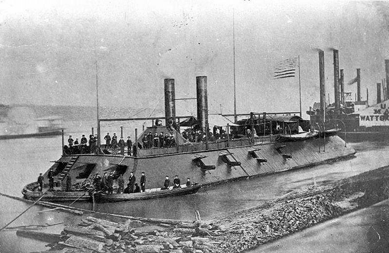 The raised USS <i>Cairo</i> image. Click for full size.