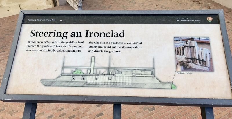 Steering an Ironclad - USS <i>Cairo</i> Marker image. Click for full size.