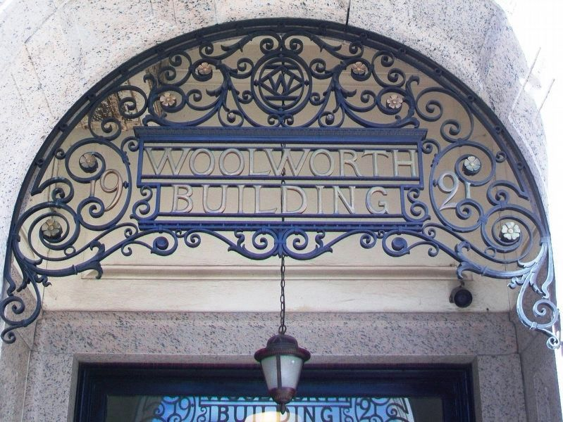 Woolworth Building Entrance Detail image. Click for full size.