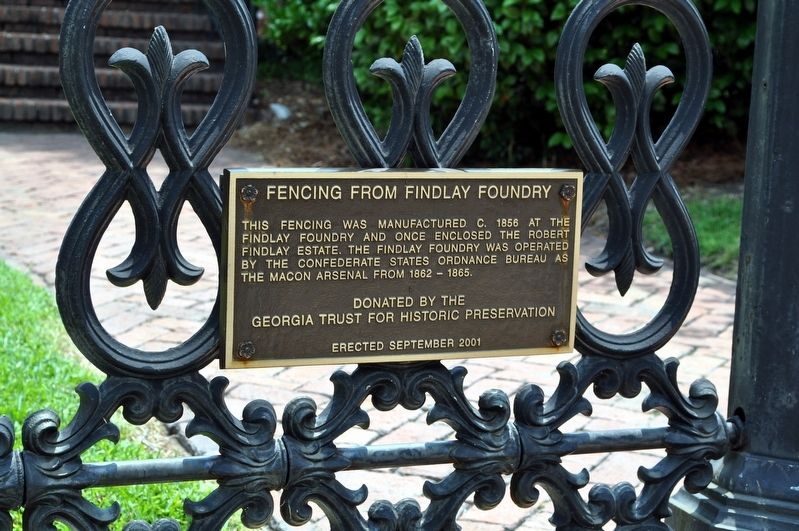 Fencing from Findlay Foundry Marker image. Click for full size.