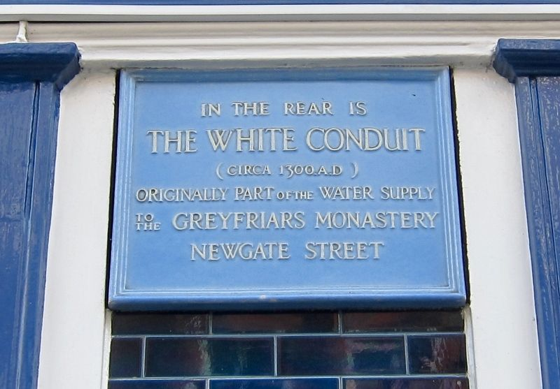 The White Conduit Marker image. Click for full size.