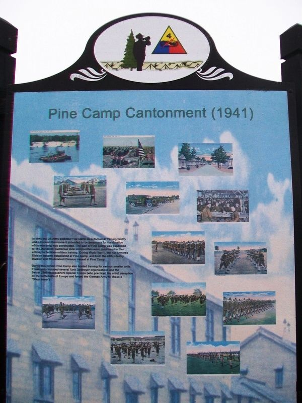 Pine Camp Cantonment (1941) Marker image. Click for full size.