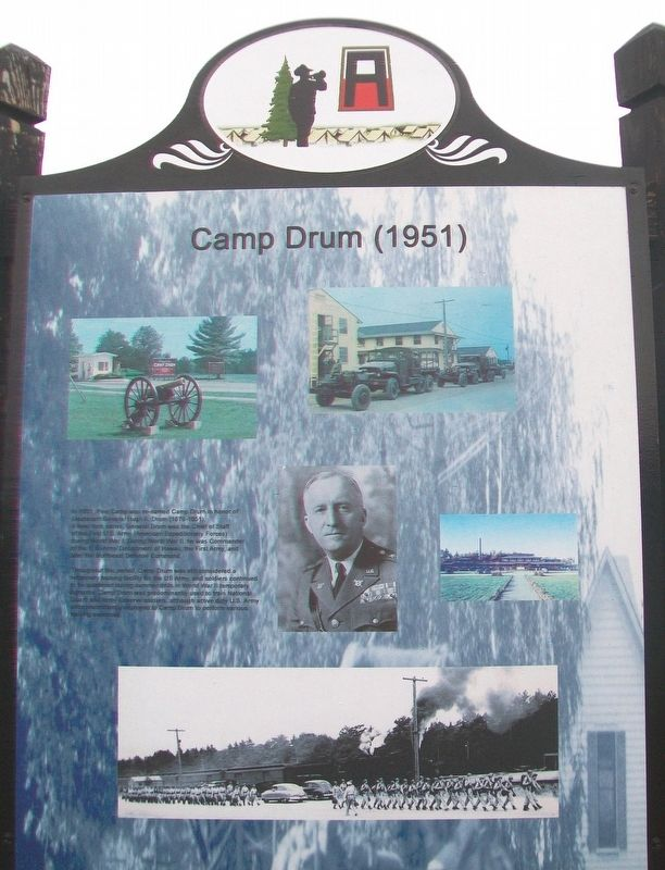 Camp Drum (1951) Marker image. Click for full size.