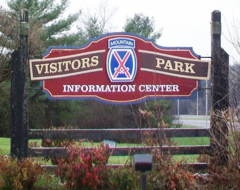 Visitors Park Information Center Sign image. Click for full size.