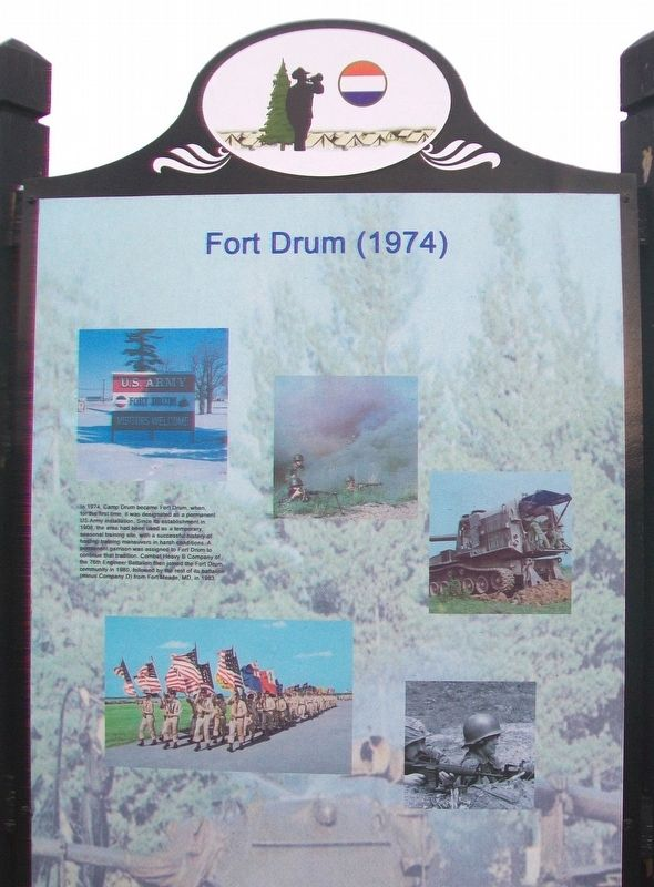 Fort Drum (1974) Marker image. Click for full size.