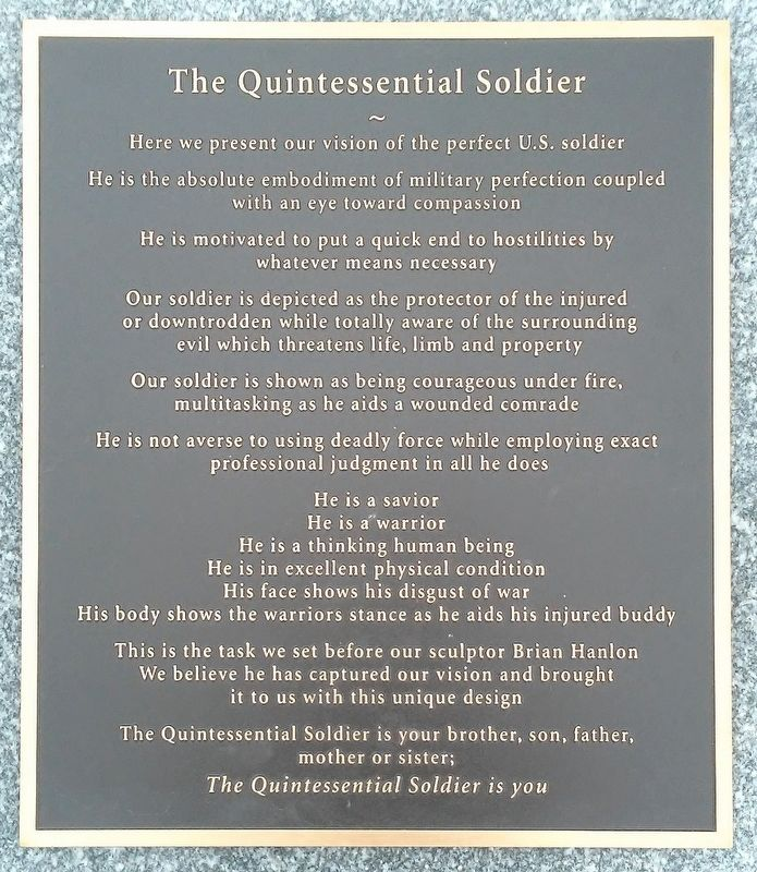 The Quintessential Soldier Marker image. Click for full size.