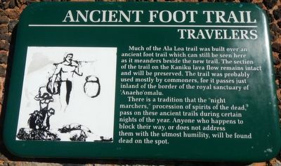 Ancient Foot Trail Marker image. Click for full size.