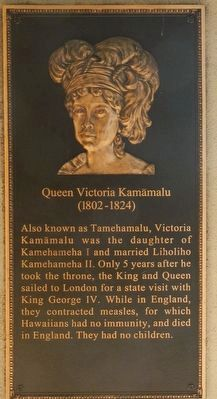 Queen Victoria Kamāmalu Marker image. Click for full size.