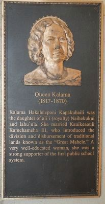 Queen Kalama Marker image. Click for full size.