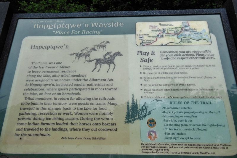 Hnpetptqwe'n Wayside Marker image. Click for full size.