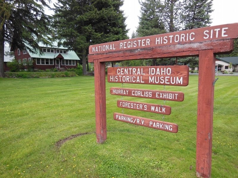 Central Idaho Historical Museum (<i>sign in front of marker</i>) image. Click for full size.