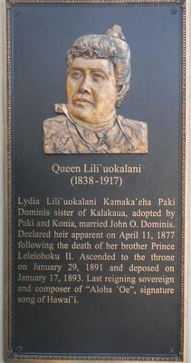 Queen Lili'uokalani Marker image. Click for full size.