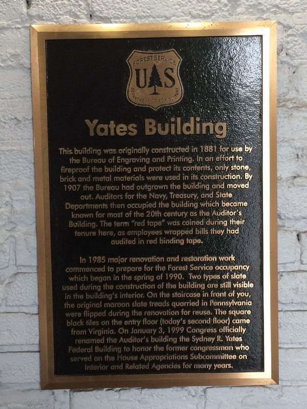 Yates Building Marker image. Click for full size.