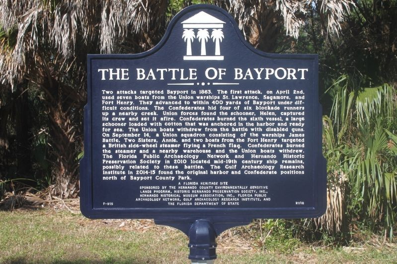 Bayport in the Civil War/The Battle of Bayport Marker Side 2 image, Touch for more information