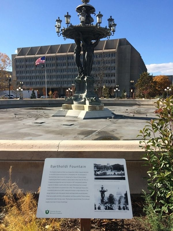 Bartholdi Fountain Marker image. Click for full size.