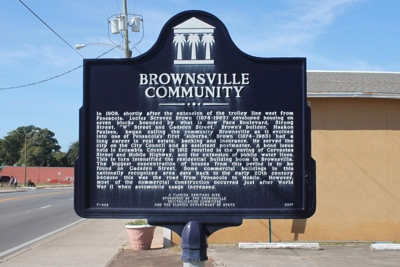 Brownsville Community Marker image. Click for full size.