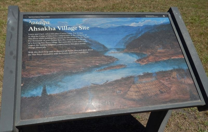 Ahsakha Village Site Marker image. Click for full size.