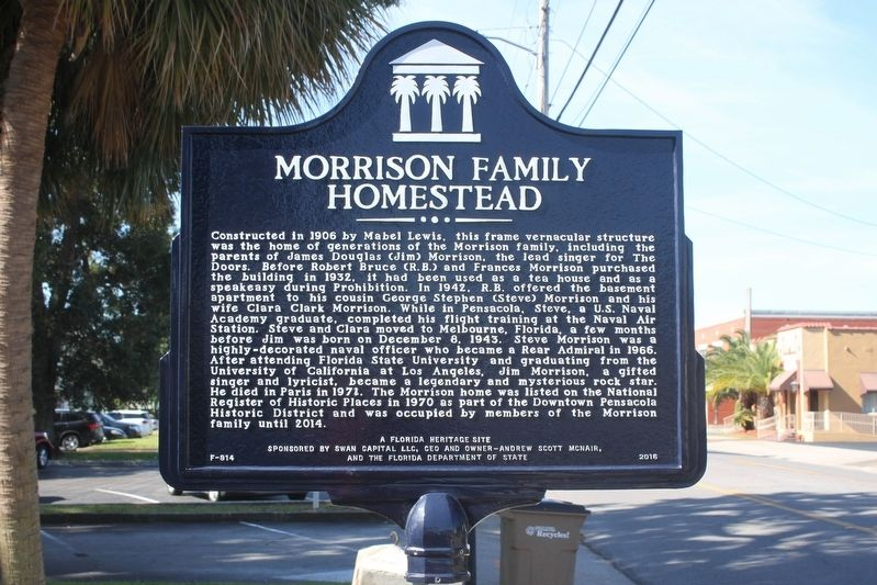 Morrison Family Homestead Marker image. Click for full size.