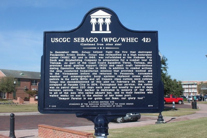 USCGC Sebago (WPG/WHEC 42) Marker Side 2 image. Click for full size.