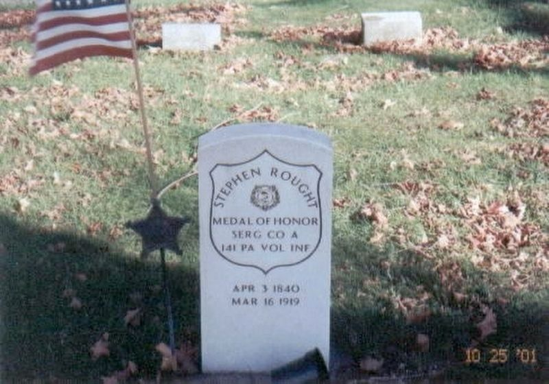 Stephen Rought-grave marker image. Click for full size.