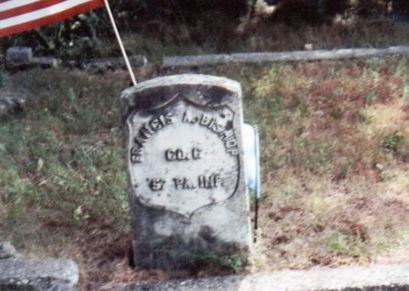 Francis A. Bishop-grave marker image. Click for full size.
