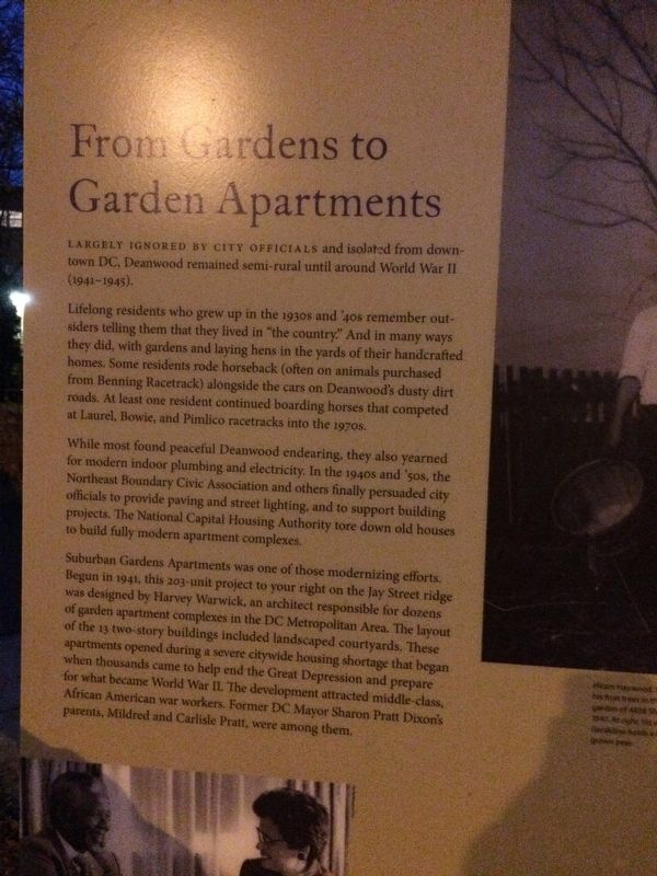 From Gardens to Garden Apartments Marker image. Click for full size.