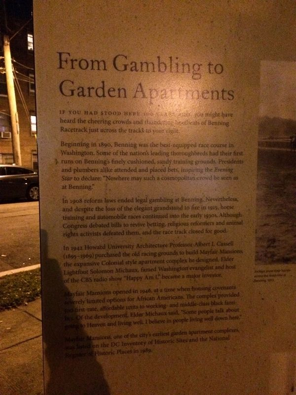 From Gambling to Garden Apartments Marker image. Click for full size.