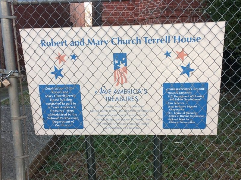 Robert and Mary Church Terrell House Marker image. Click for full size.