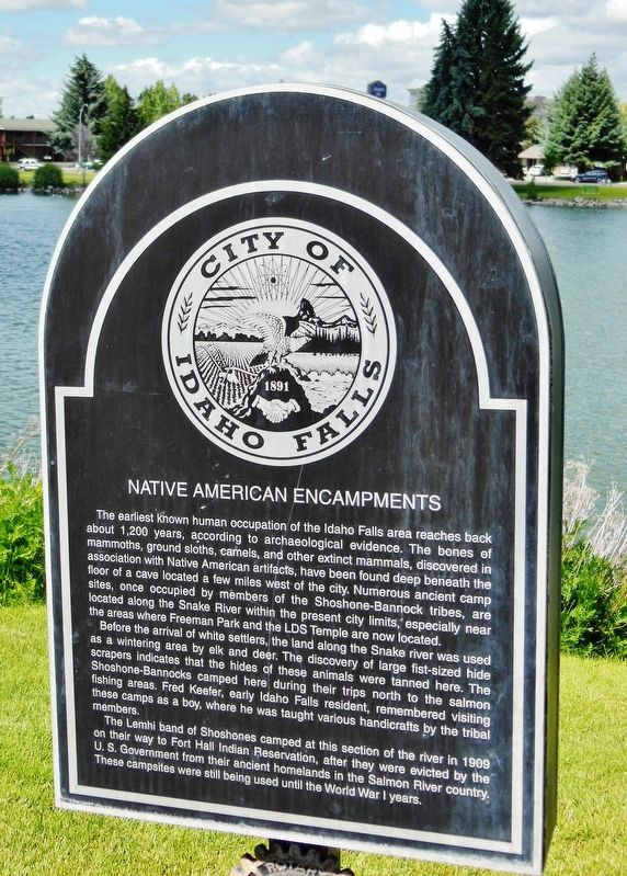 Native American Encampments Marker image. Click for full size.