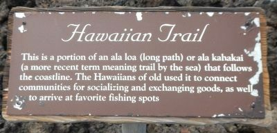 Hawaiian Trail Marker image. Click for full size.
