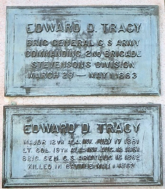 Edward D. Tracy Marker image. Click for full size.