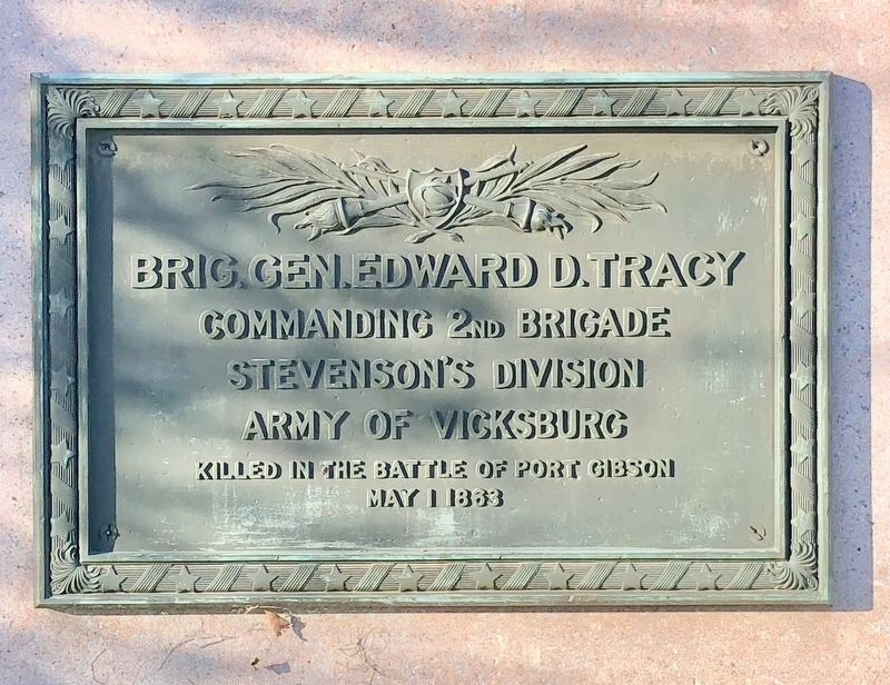 Brig. Gen. Edward D. Tracy Marker image. Click for full size.