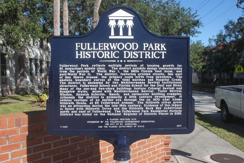 Fullerwood Park Historic District Marker image. Click for full size.