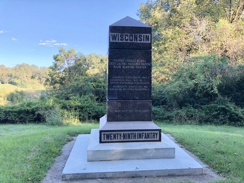Wisconsin Twenty-Ninth Infantry monument looking east. image. Click for full size.