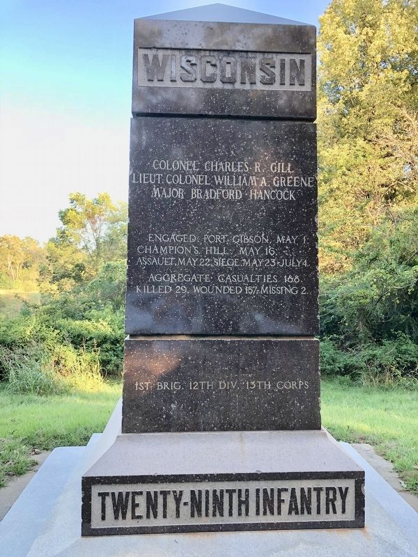 Wisconsin Twenty-Ninth Infantry Monument image. Click for full size.