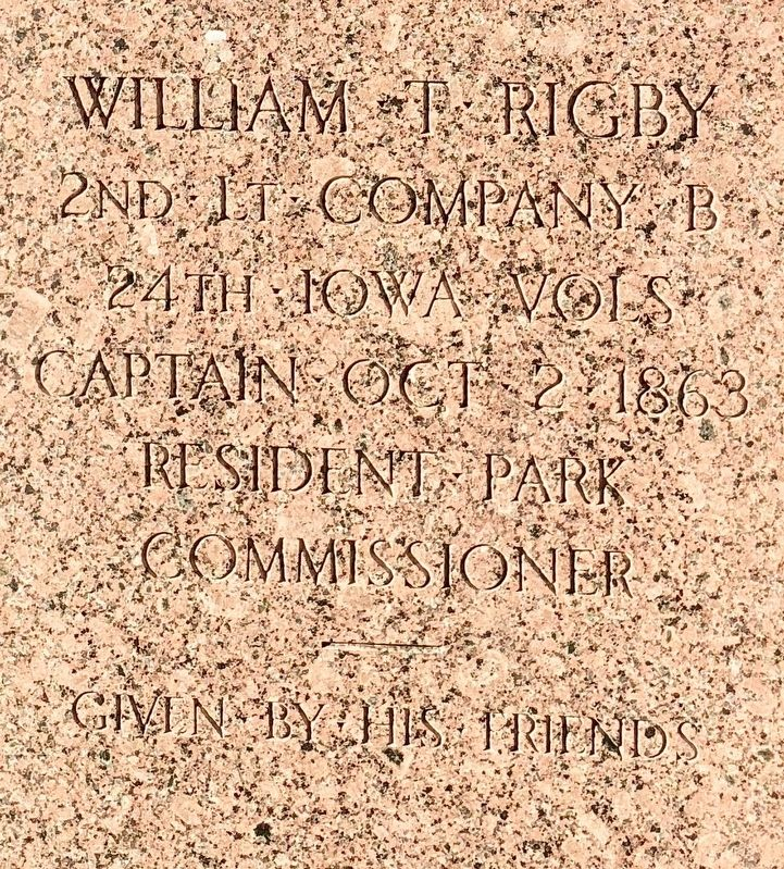 William T. Rigby Marker image. Click for full size.