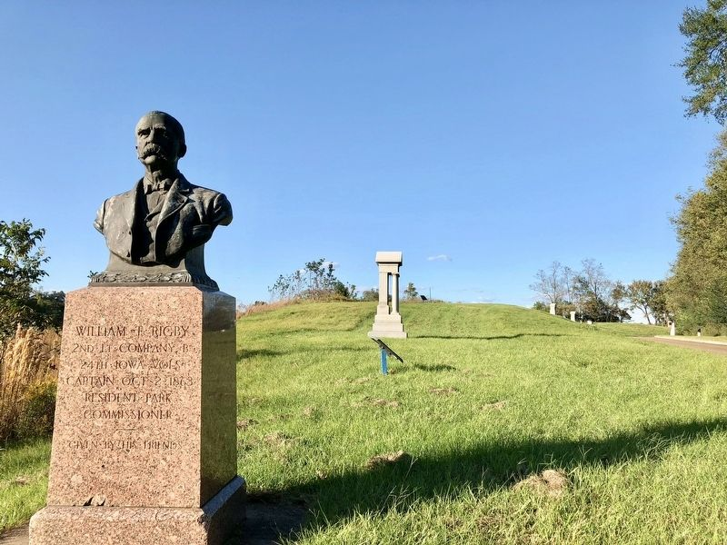 William T. Rigby monument looking north. image. Click for full size.
