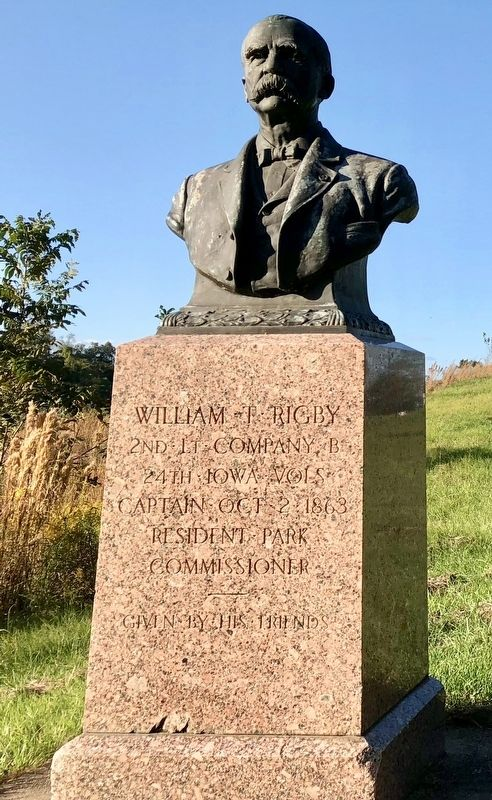 William T. Rigby monument. image. Click for full size.