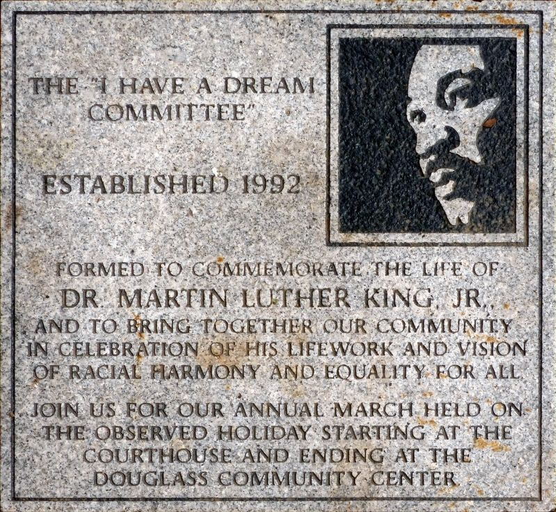 "The ""I Have a Dream Committee"" Marker image. Click for full size."