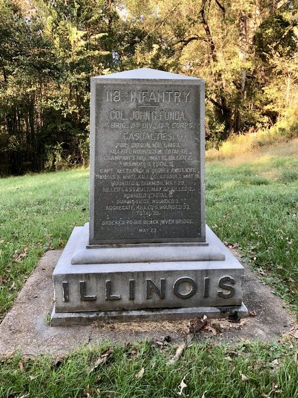 Illinois 118th Infantry monument. image. Click for full size.