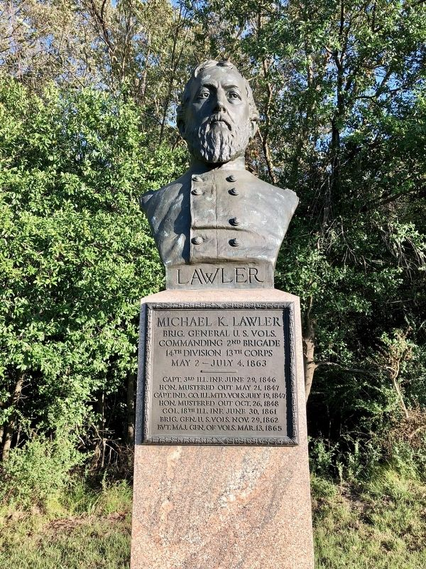 Michael K. Lawler monument. image. Click for full size.
