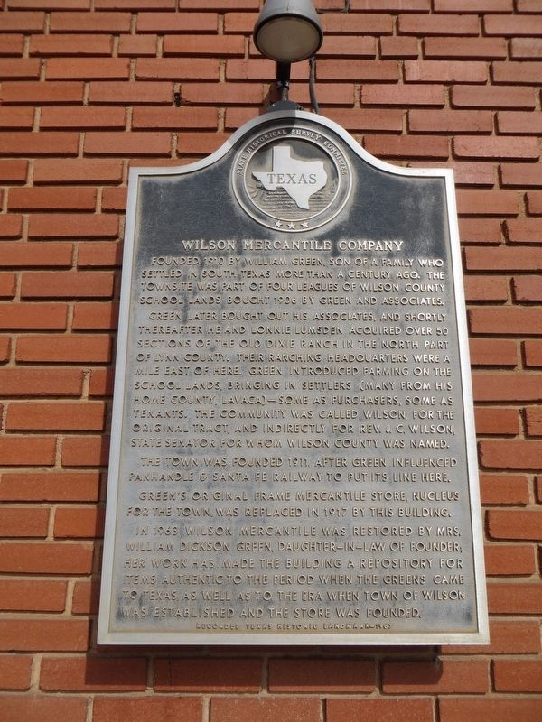 Wilson Mercantile Company Marker image. Click for full size.
