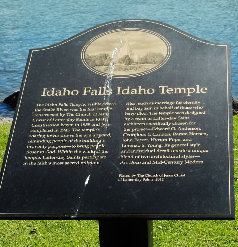 Idaho Falls Idaho Temple Marker image. Click for full size.